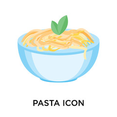 pasta icons isolated on white background. Modern and editable pasta icon. Simple icon vector illustration.