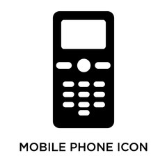 mobile phone icon isolated on white background. Modern and editable mobile phone icon. Simple icons vector illustration.