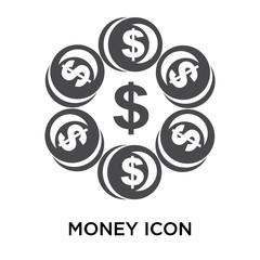 money icon on white background. Modern icons vector illustration. Trendy money icons