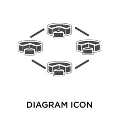 diagram icon on white background. Modern icons vector illustration. Trendy diagram icons