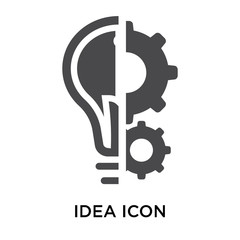 Idea icon vector sign and symbol isolated on white background, Idea logo concept