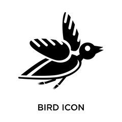 bird icon isolated on white background. Modern and editable bird icon. Simple icons vector illustration.
