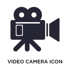 video camera icon on white background. Modern icons vector illustration. Trendy video camera icons