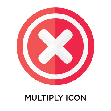 Multiply icon vector sign and symbol isolated on white background, Multiply logo concept