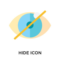 Hide icon vector sign and symbol isolated on white background, Hide logo concept