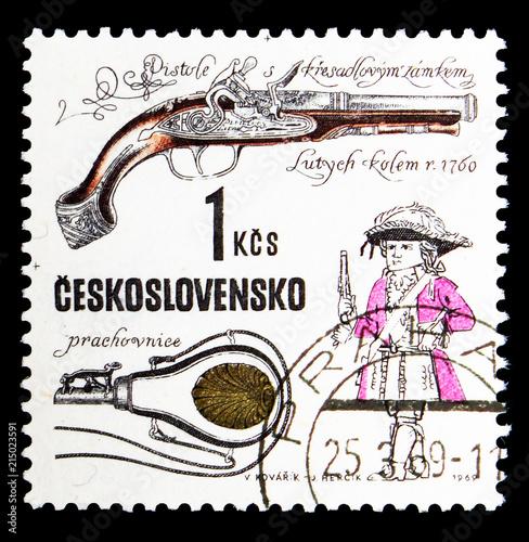 Flintlock pistol, Devieuxe workshop, Liege, c  1760, Historical