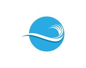 Water Wave Splash Logo Design