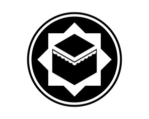 islam worship place hajj mecca religion muslim image vector icon logo symbol
