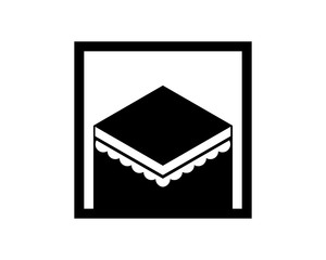 rectangle worship place hajj mecca religion muslim image vector icon logo symbol
