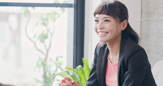 woman with interview concept