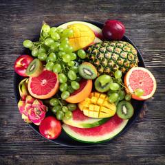 Wall Mural - Fresh  fruits and berries platter