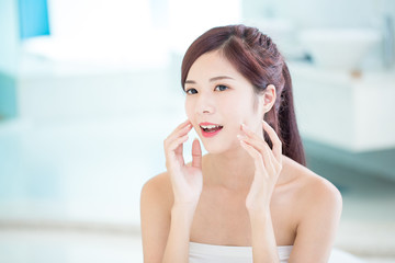 beauty skin care woman