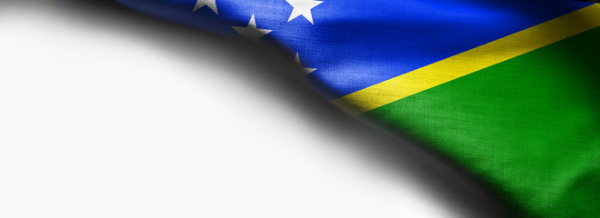 Solomon Islands flag on white background