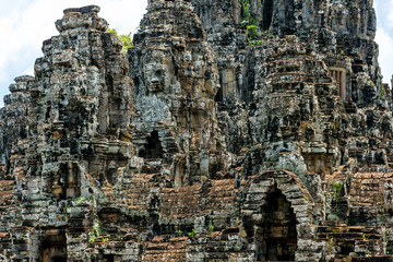 The famous Khmer temple of Angkor Tom in Cambodia.