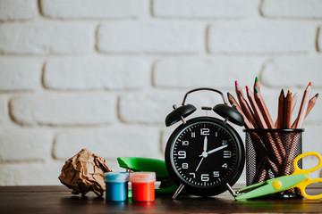 School. School concept. Clock.