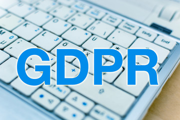 Letters GDPR (General Data Protection Regulation) in front of Laptop Keyboard