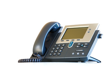Business IP Phone isolated on white background
