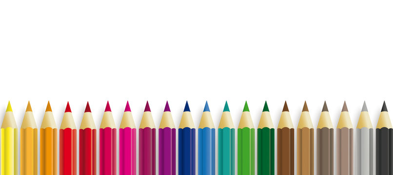 Colored Pencils White Paper Header