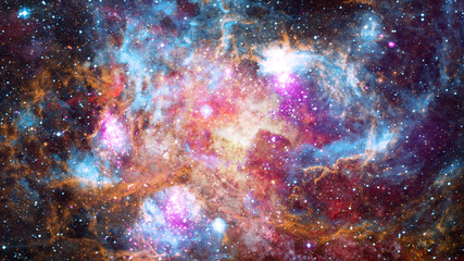 Nebula gas cloud in deep outer space. Elements of this image furnished by NASA.