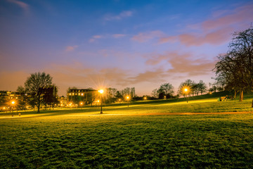 Night at Primrose hill park in London, UK