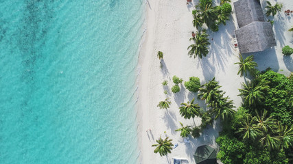 Poster de jardin Tropical plage Amazing bird eyes view in Maldives