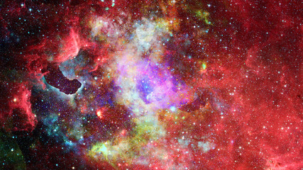 Nebula and stars in deep space, mysterious universe. Elements of this image furnished by NASA.