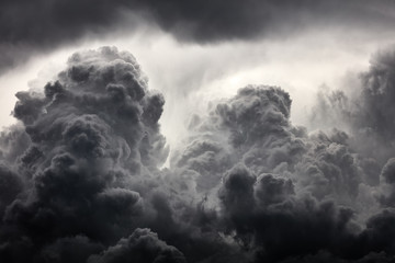 Clouds background. Dramatic grey clouds