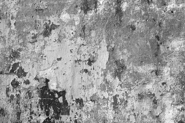Grungy cement wall in black and white. Wall mural