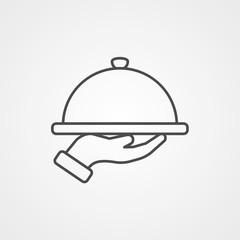Dish vector icon