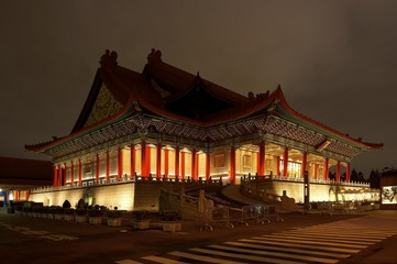 National Concert Hall at night, Taipei, Taiwan, China, Asia
