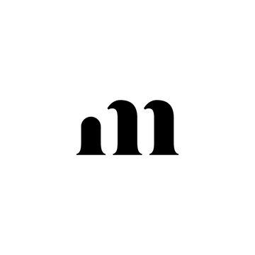 m letter initial logo
