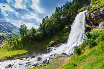 gorgeous waterfall in Norway