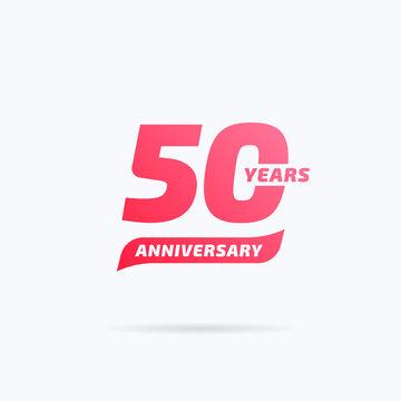 50 Years Anniversary Label
