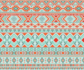 American indian pattern tribal ethnic motifs geometric vector background.