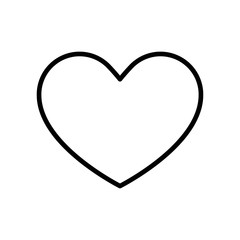 Heart icon vector icon. Simple element illustration. Heart symbol design. Can be used for web and mobile.