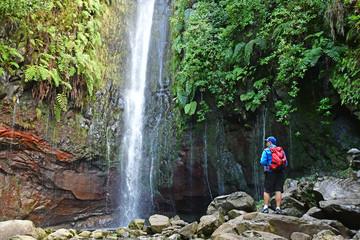 Risco; Madeira; Portugal - february 24 2018 : 25 fountains levada walk Fototapete