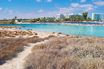 Image of Nissi beach in Agia Napa, Cyprus
