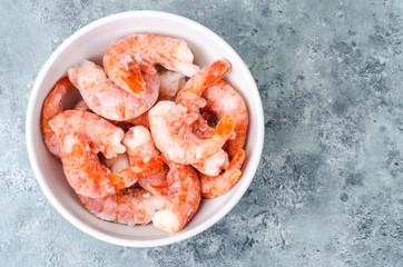 Frozen shrimp without head