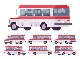 Red retro bus