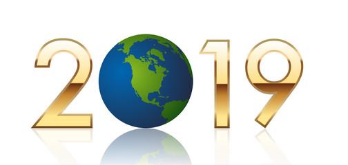 2019 - terre - environnement - carte de vœux - climat - réchauffement climatique - Amérique