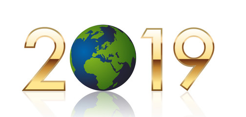 2019 - terre - environnement - carte de vœux - climat - réchauffement climatique - Europe