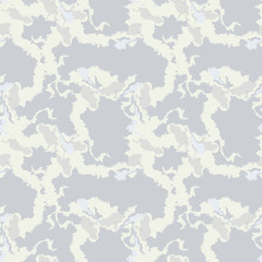 Military camouflage seamless pattern in beige or light yellow and different shades of grey color