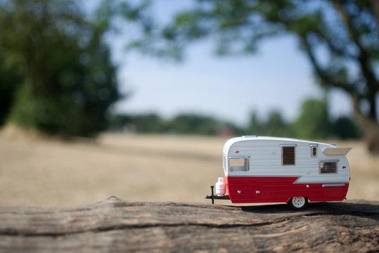 Summer countryside caravan