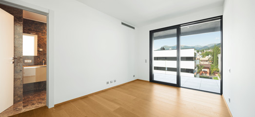 Interiors of modern apartment, empty new spaces, nobody