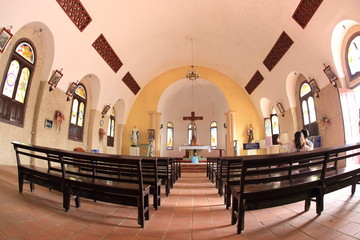 Inside the old church of Tam Dao, Vietnam