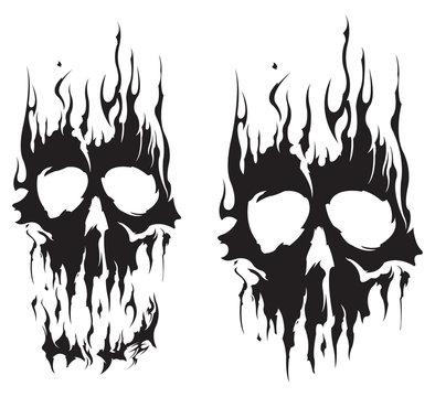Burnt skull