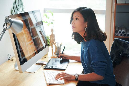 Female web designer