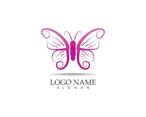 Butterfly icon logo design vector illustration