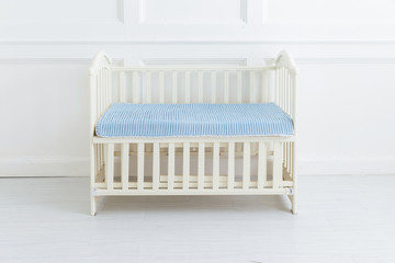 The image of child's bed under the white background
