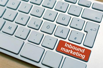 Inbound marketing button button written on Laptop Computer Keyboard
